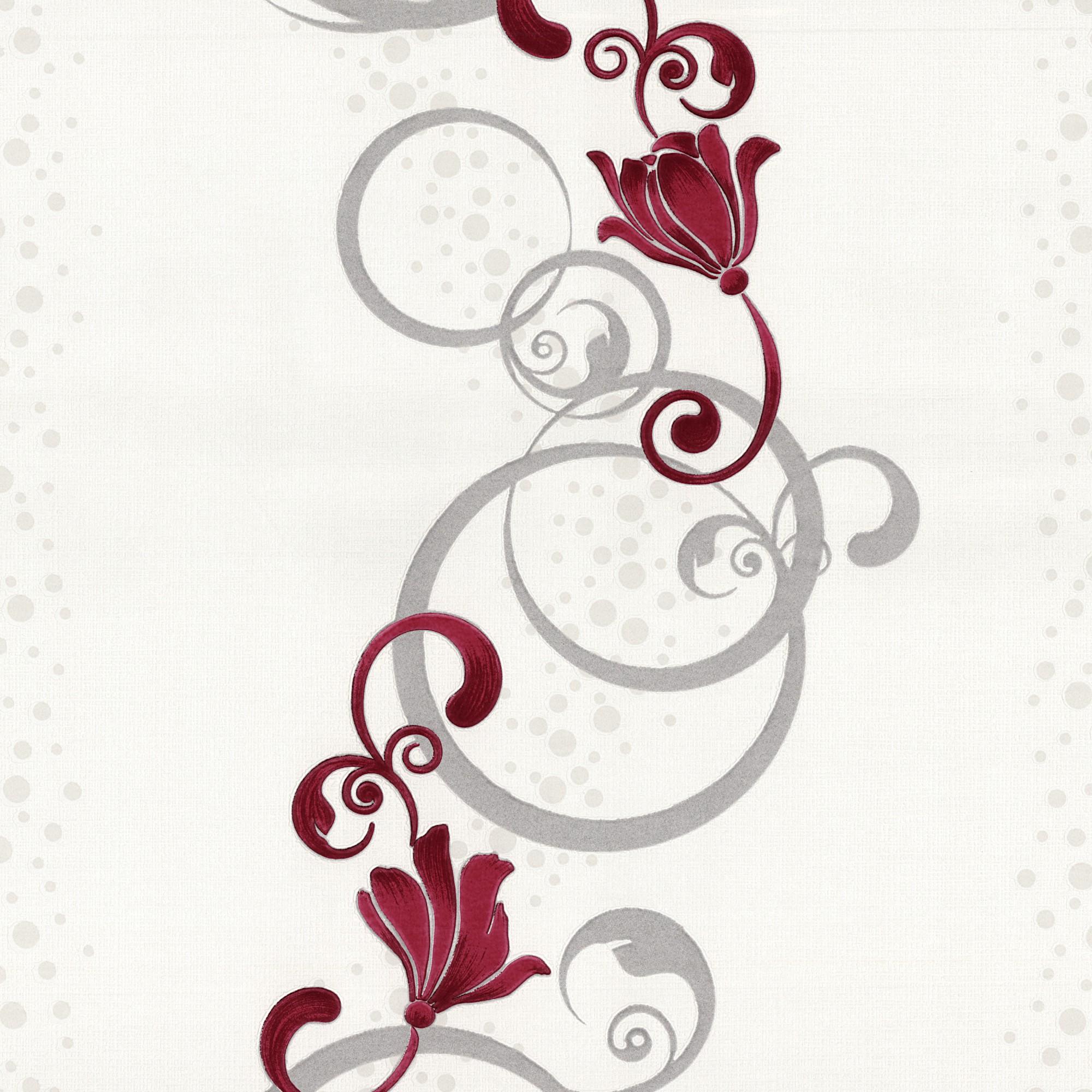 tapete blumen design rot grau vliestapete p s pure easy 13287 20 2 10 1qm ebay. Black Bedroom Furniture Sets. Home Design Ideas