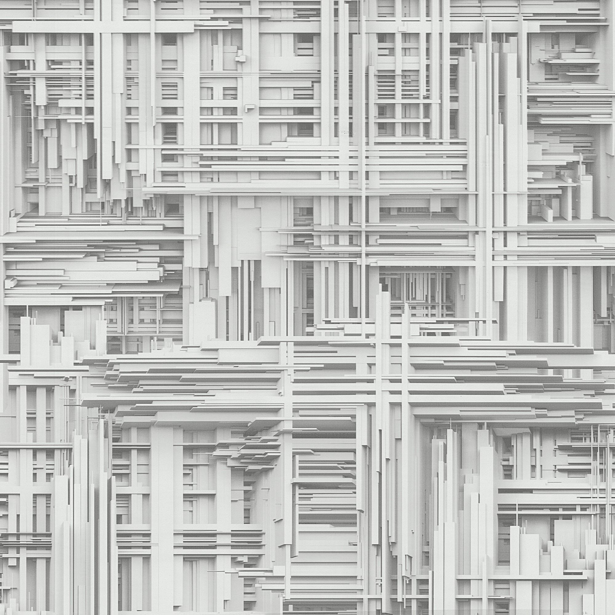 Times 42098-10 Design Tapete Vlies grau weiß metallic 3D Optik