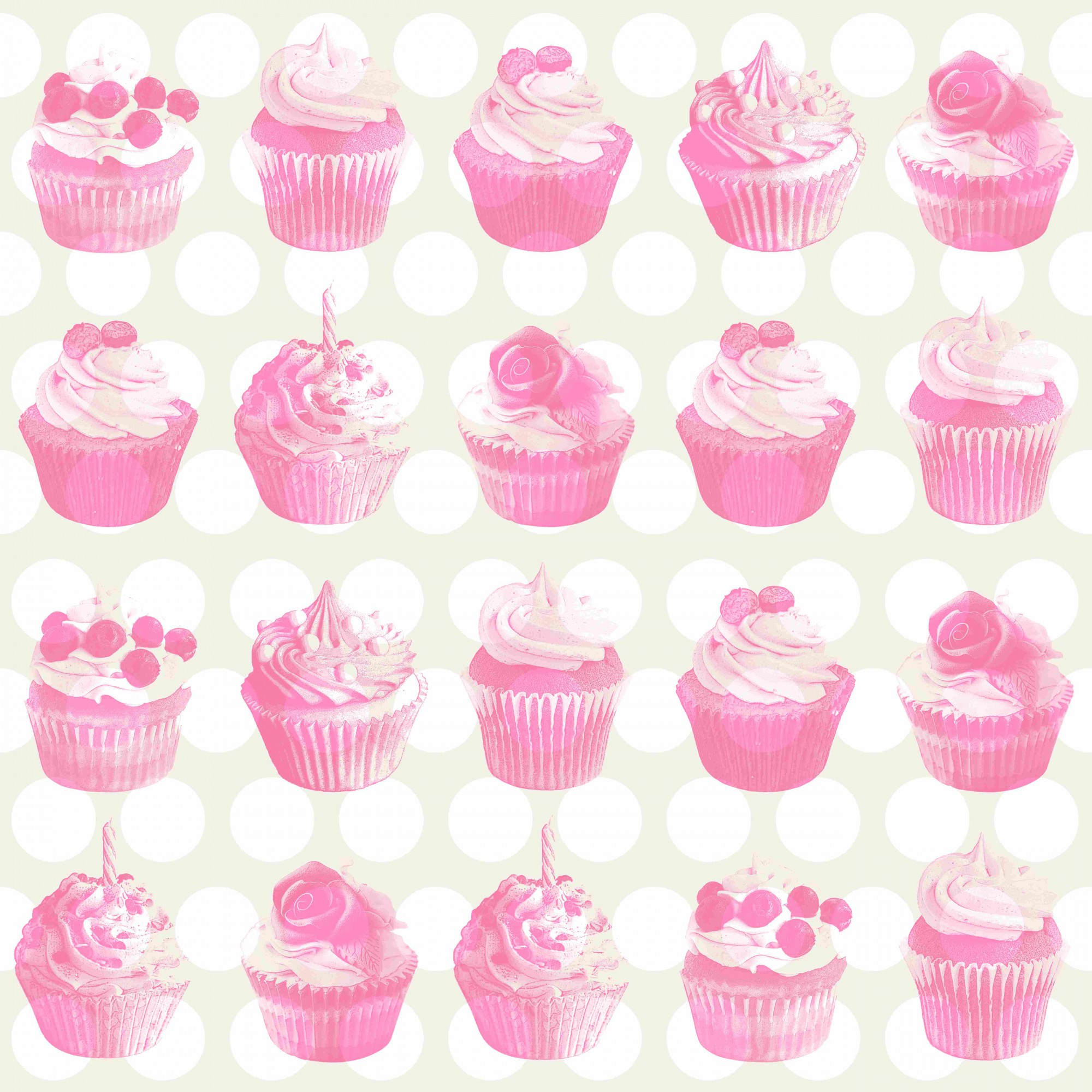 Details about Tapete Vlies Cupcake Metallic rosa beige weiß Everybody ...