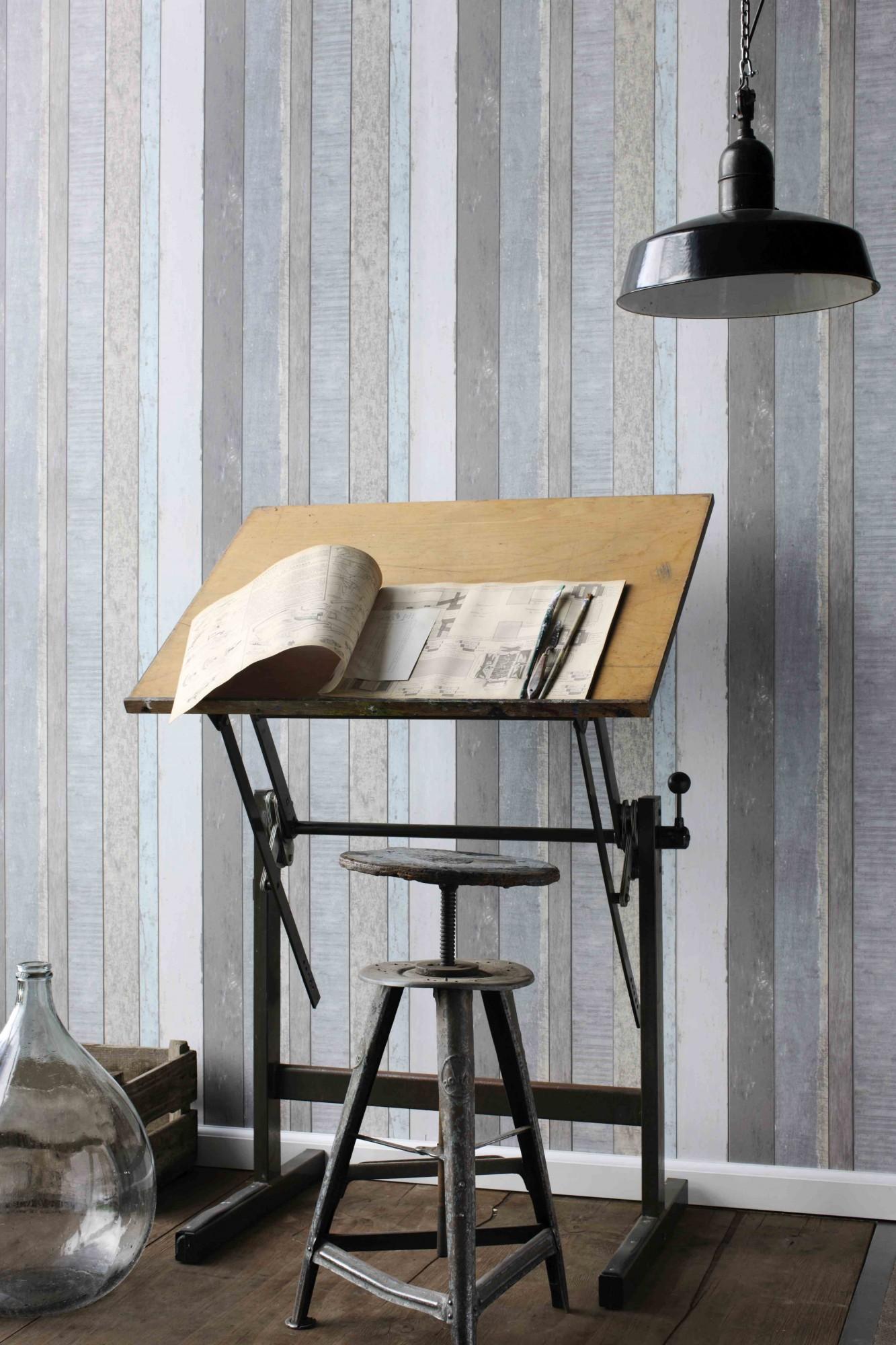 tapete vlies holz grau wei vintage rules 138250. Black Bedroom Furniture Sets. Home Design Ideas
