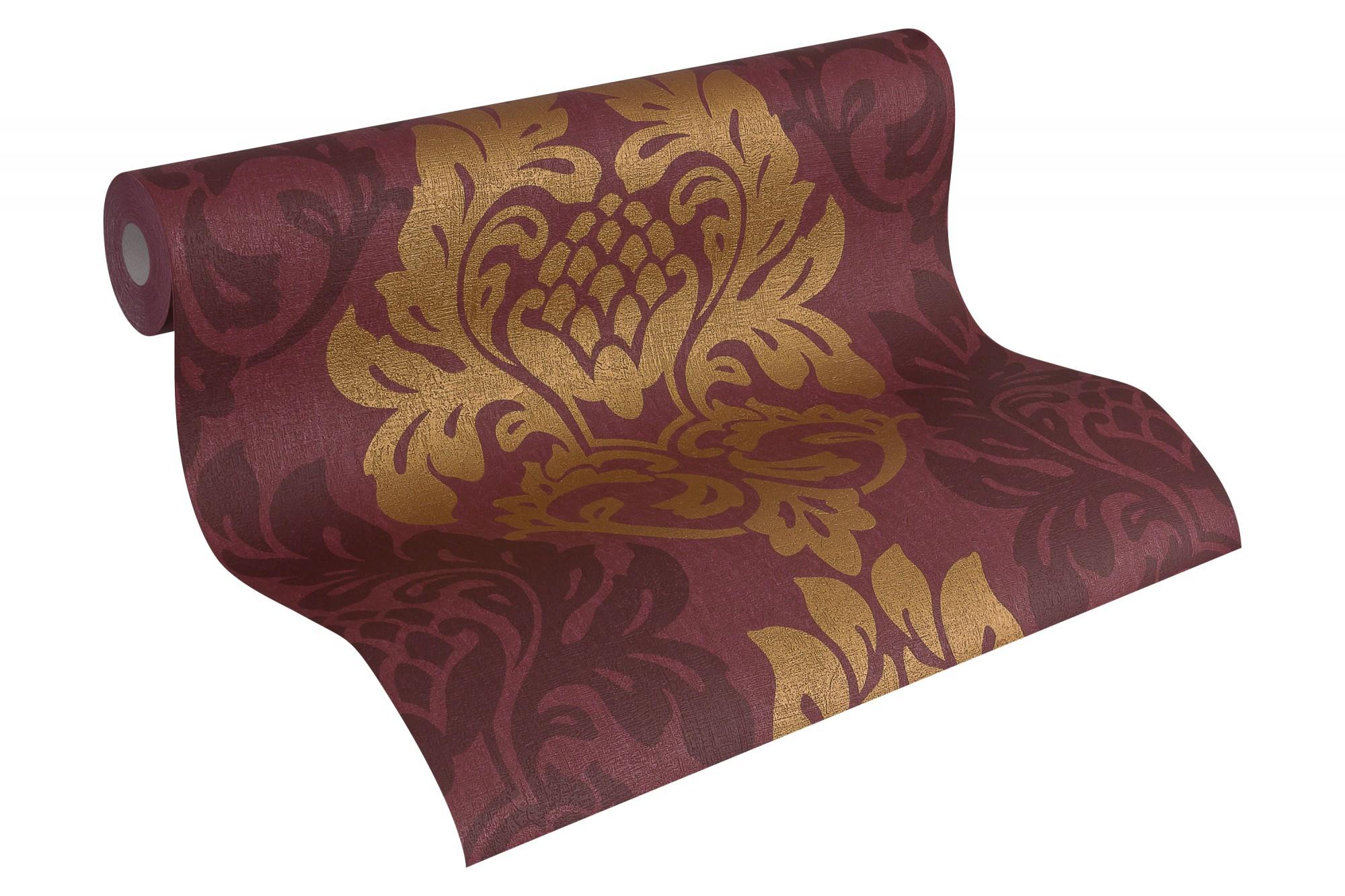 tapete vlies barock dunkelrot gold as fleece royal 96190 4 3 67 1qm ebay. Black Bedroom Furniture Sets. Home Design Ideas