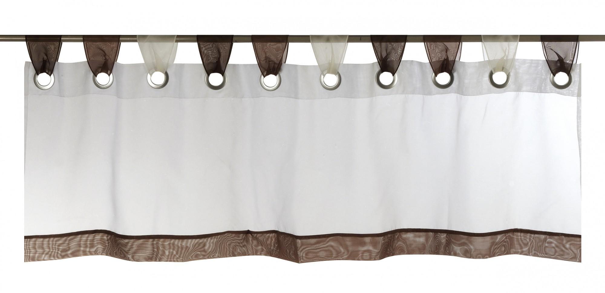 Bistrogardine Laola Streifen transparent braun 180362  eBay