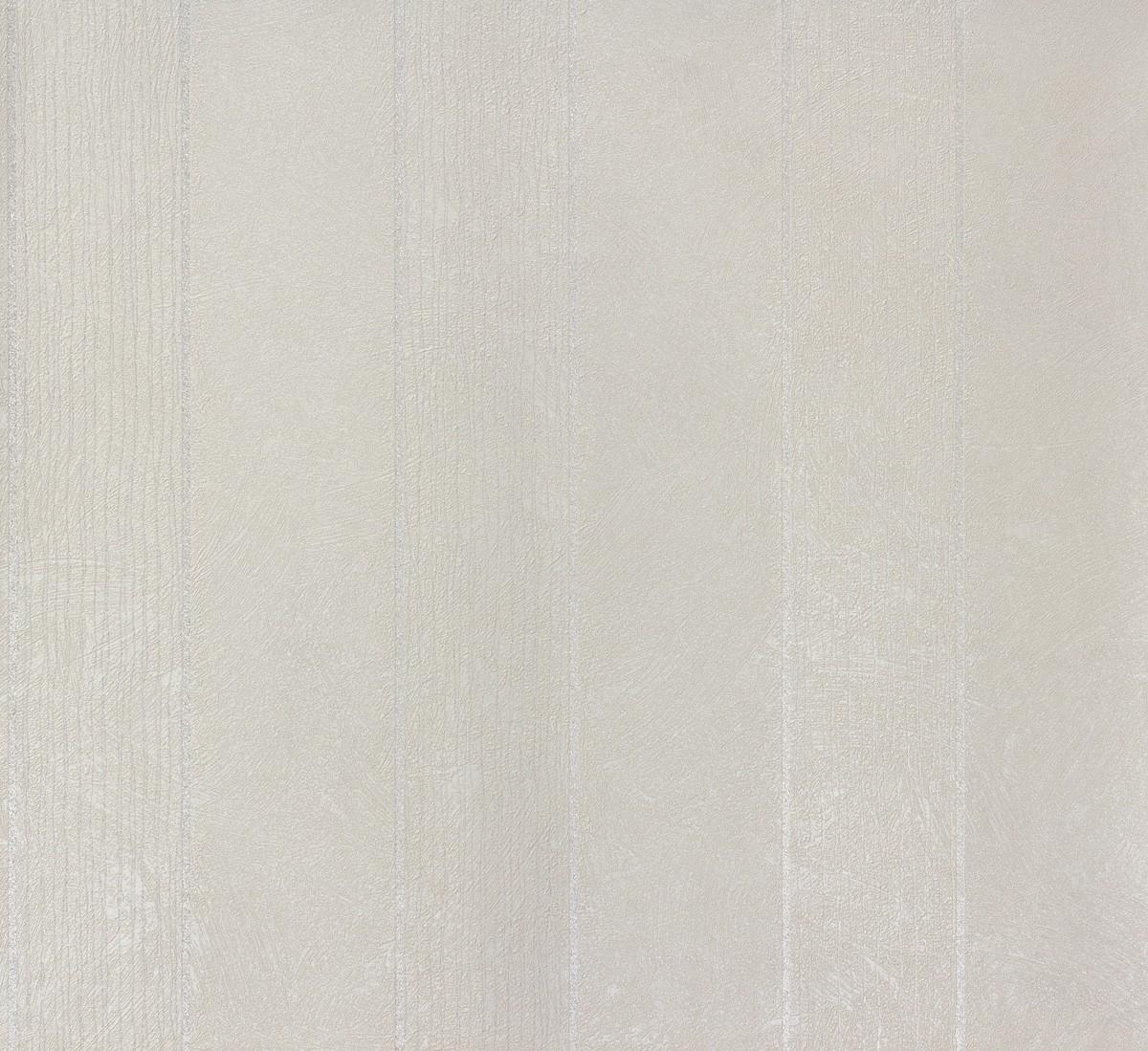 Tapete vlies streifen silber creme 56852 for Tapete silber