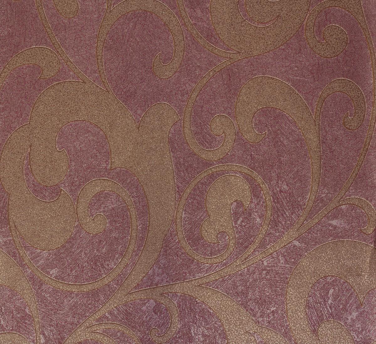 wallpaper flower purple gold marburg 56810 ebay. Black Bedroom Furniture Sets. Home Design Ideas