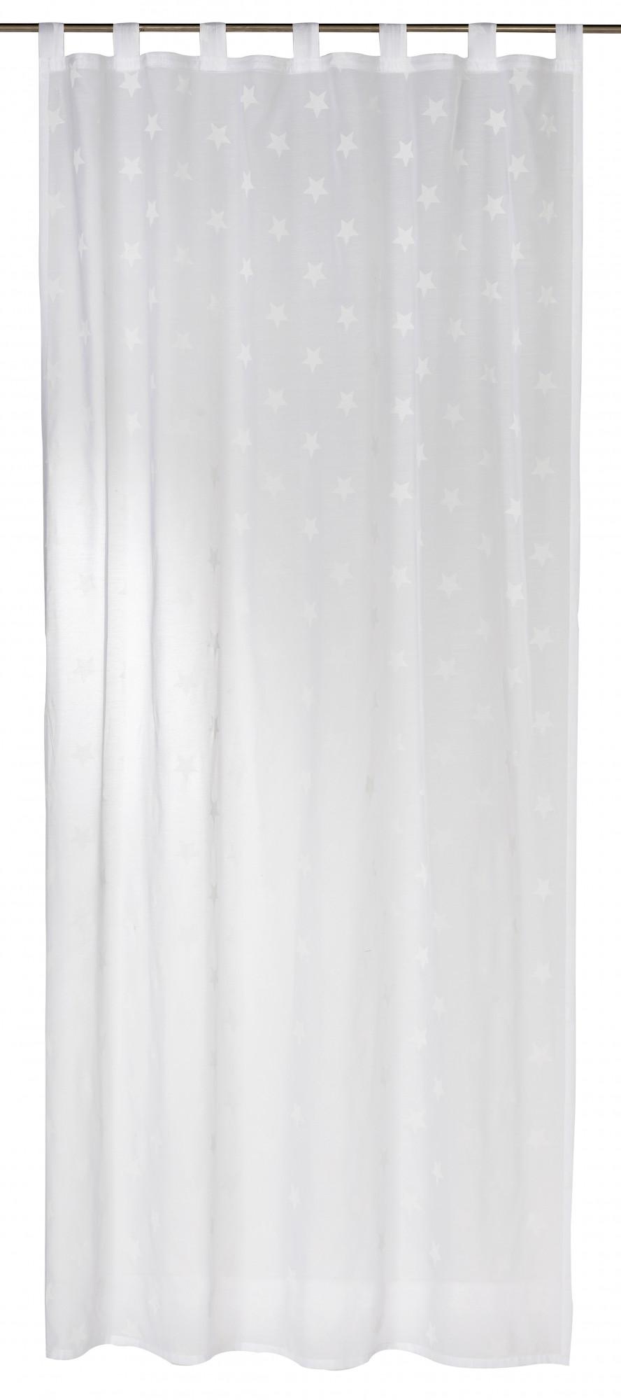 schlaufenschal halbtransparent wei 140x255cm 197476 ebay. Black Bedroom Furniture Sets. Home Design Ideas