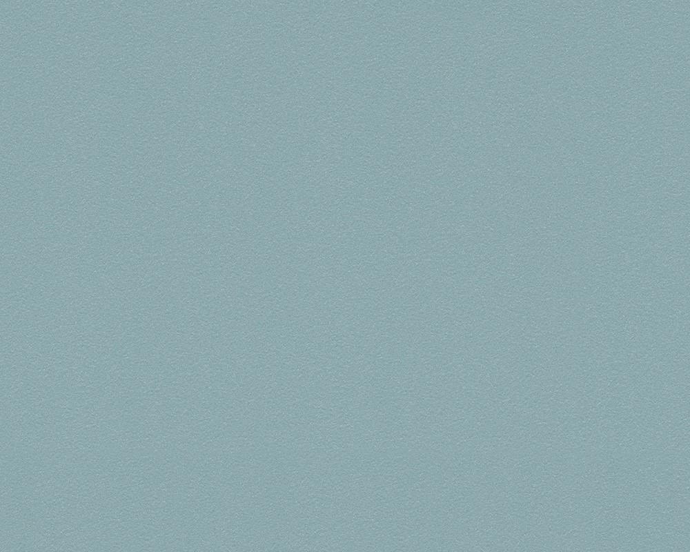 Livingwalls Tapete Vlies : Tapete Vlies uni blau t?rkis livingwalls 8919-21