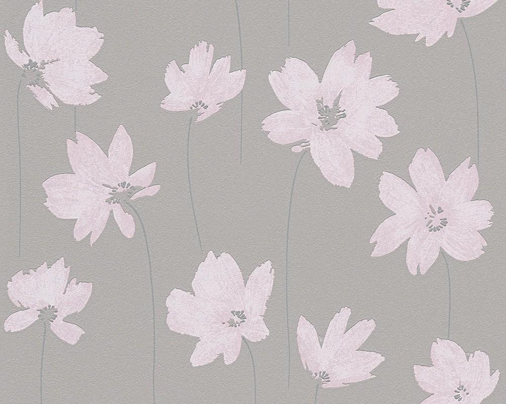 Livingwalls Tapete Vlies : Tapete Vlies Blumen rosa livingwalls 30100-1