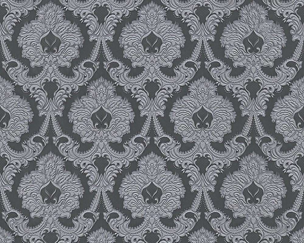 tapete barock grau as creation concerto 7640 72 2 68 1qm ebay. Black Bedroom Furniture Sets. Home Design Ideas