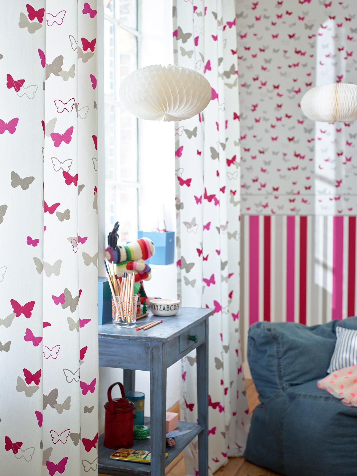 Kinderzimmer Tapeten Esprit : Tapete Esprit Kids Kinder Schmetterling wei? 30289-2