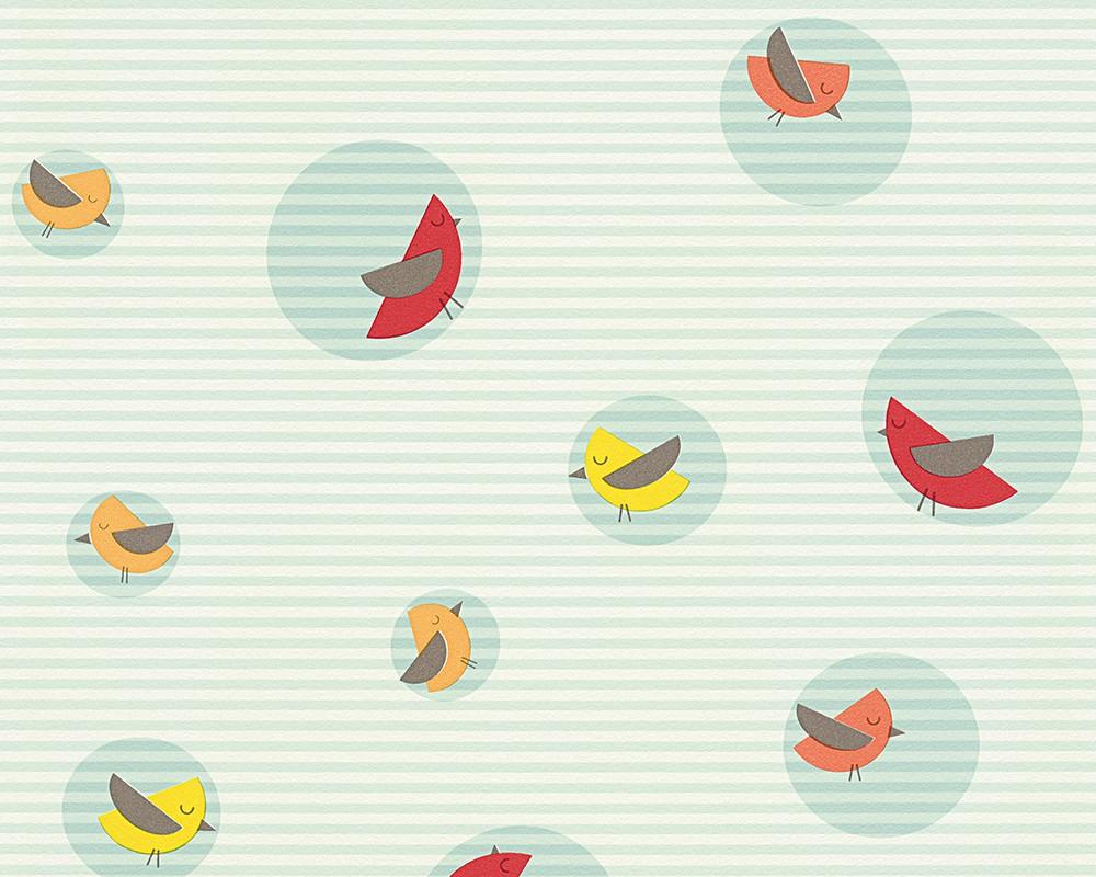 Kinderzimmer Tapeten Esprit : Tapete Esprit Kids Kinder V?gel t?rkis 30298-3