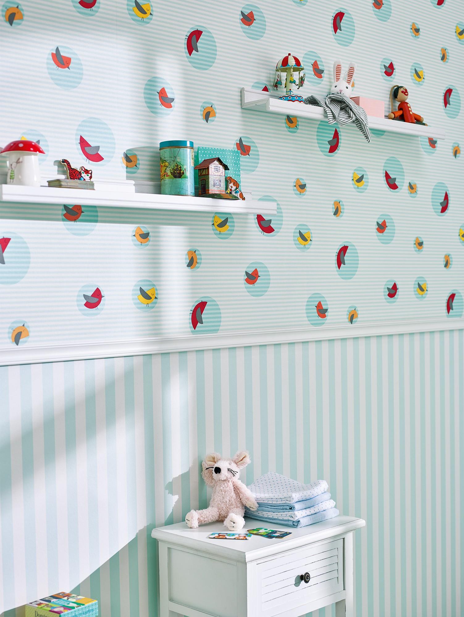 tapete esprit kids kinder v gel t rkis 30298 3. Black Bedroom Furniture Sets. Home Design Ideas