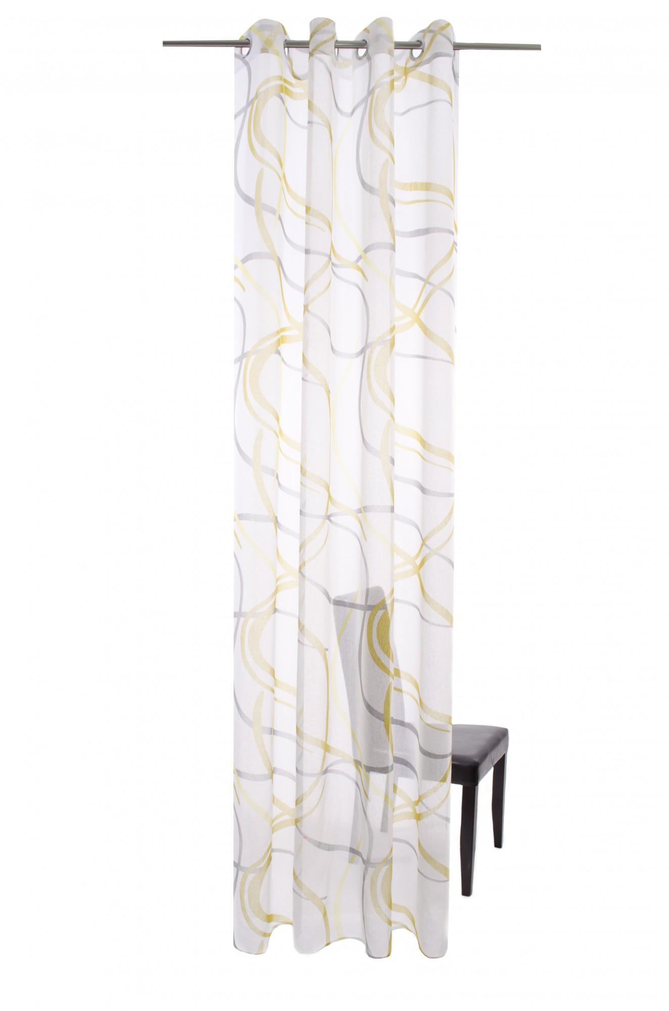 senschal halbtransparent wei gr n gestreift 5795 01. Black Bedroom Furniture Sets. Home Design Ideas