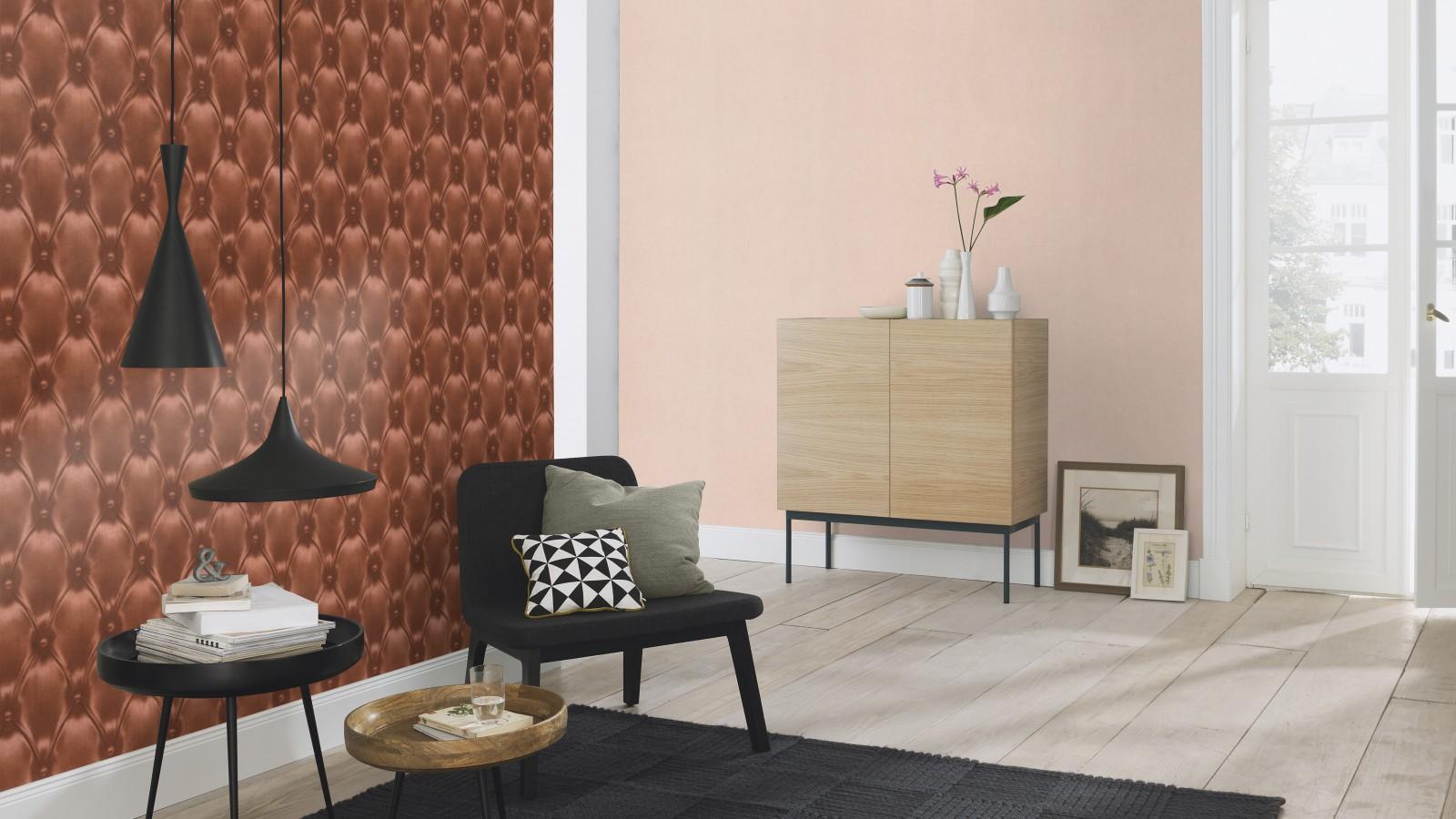 barbara becker tapete b b leder optik braun 479508. Black Bedroom Furniture Sets. Home Design Ideas