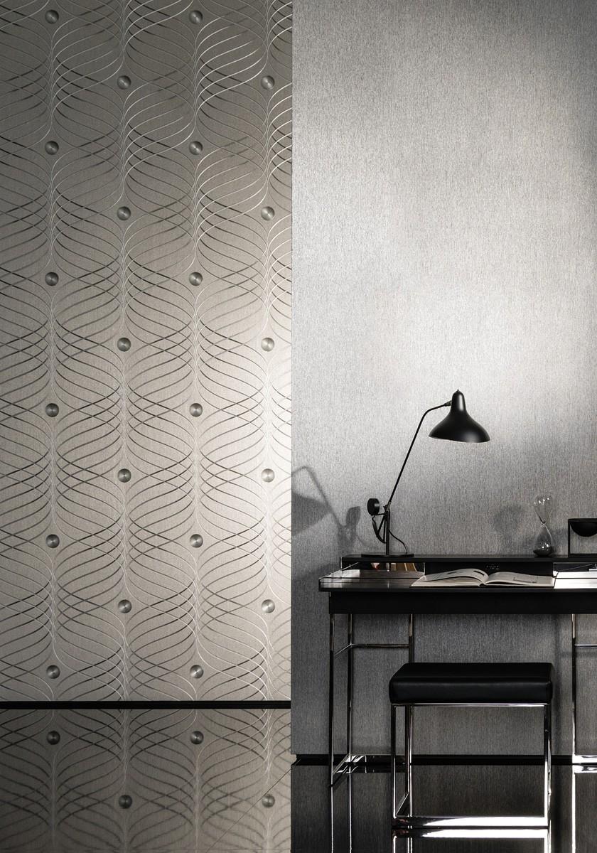 colani tapete evolution marburg einfarbig schwarz 56341. Black Bedroom Furniture Sets. Home Design Ideas