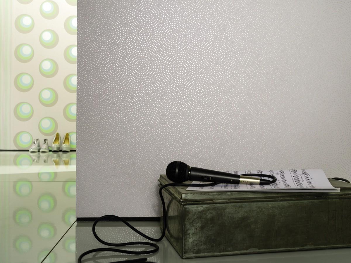 nena tapete design marburg grau kreise 57218. Black Bedroom Furniture Sets. Home Design Ideas