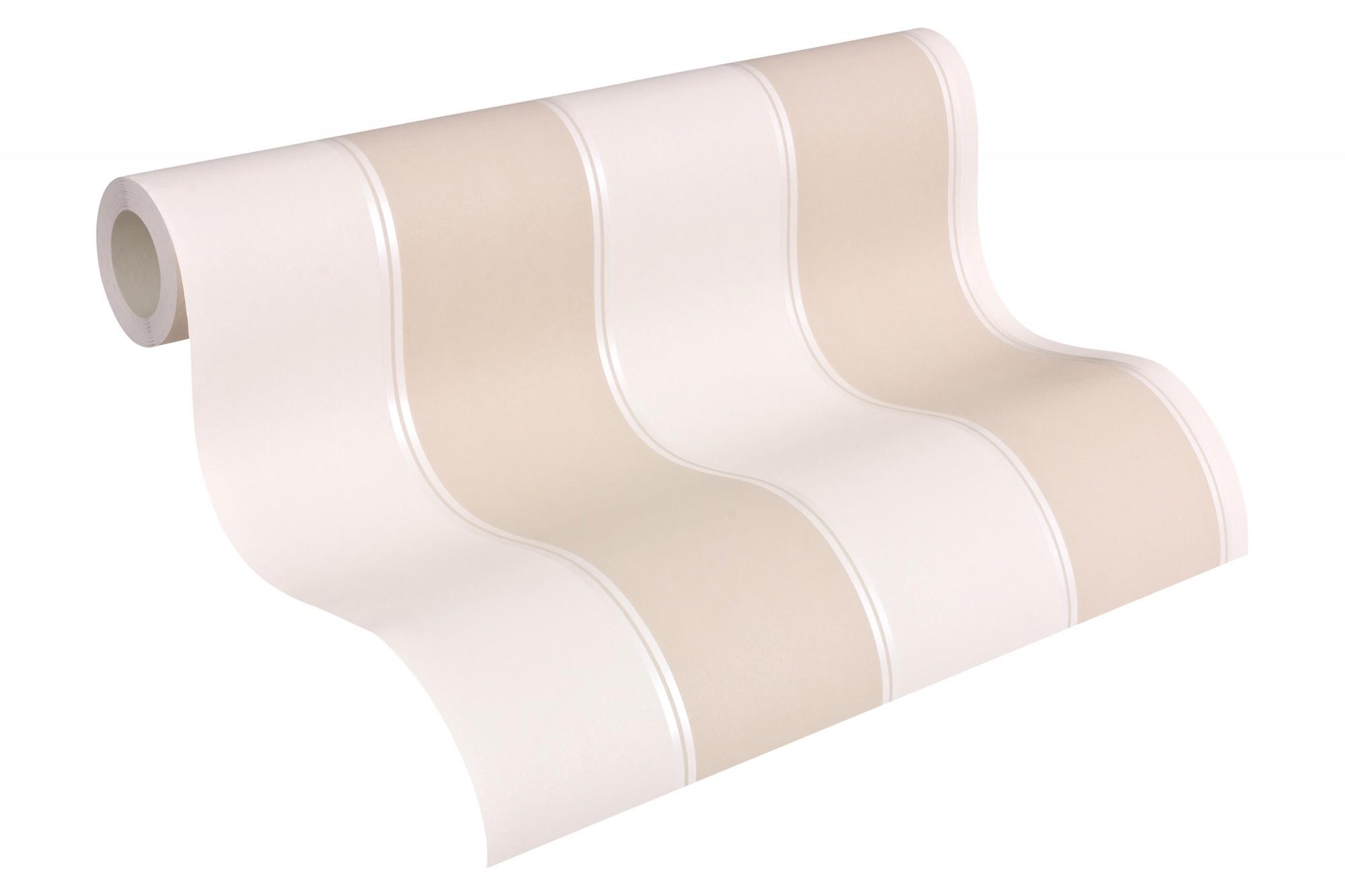 Michael Michalsky Tapeten : Michalsky Tapete Streifen Designer creme beige 30459-3