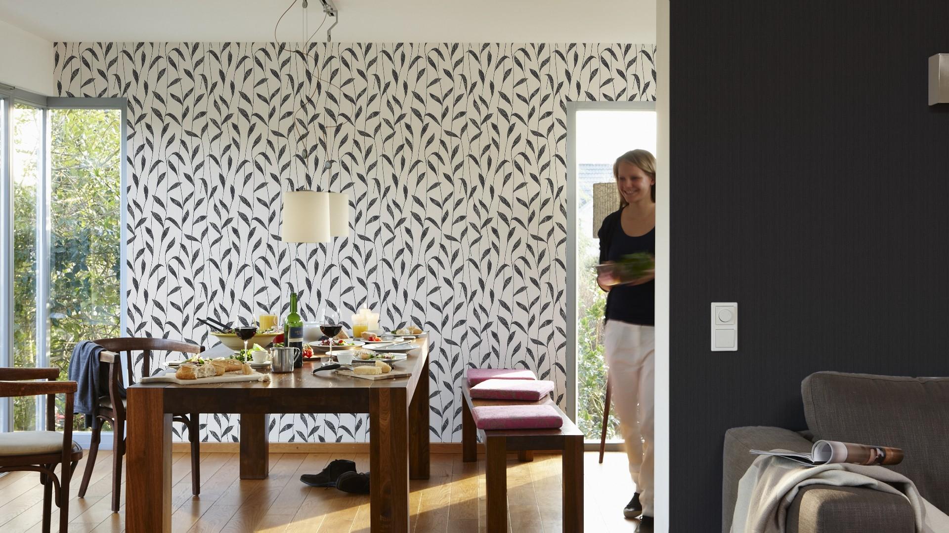 esprit home tapete streifen schwarz 30277 2. Black Bedroom Furniture Sets. Home Design Ideas