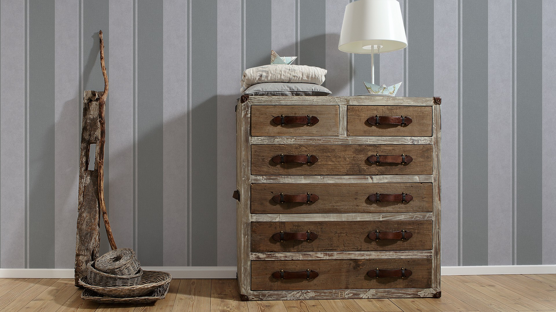 tapete streifen grau as creation elegance 30520 7. Black Bedroom Furniture Sets. Home Design Ideas
