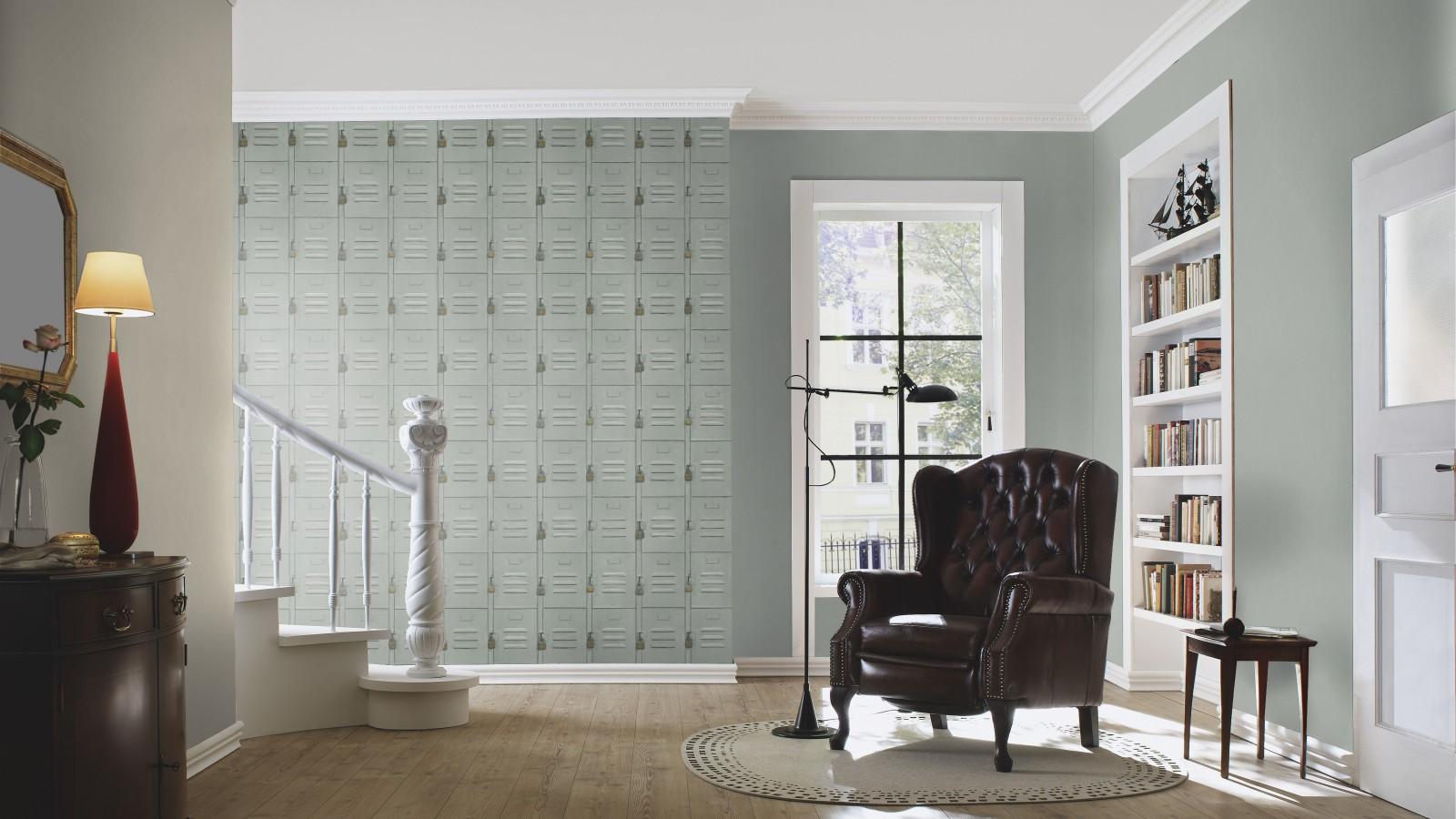 rasch tapete crispy paper gr n metall optik 524222. Black Bedroom Furniture Sets. Home Design Ideas