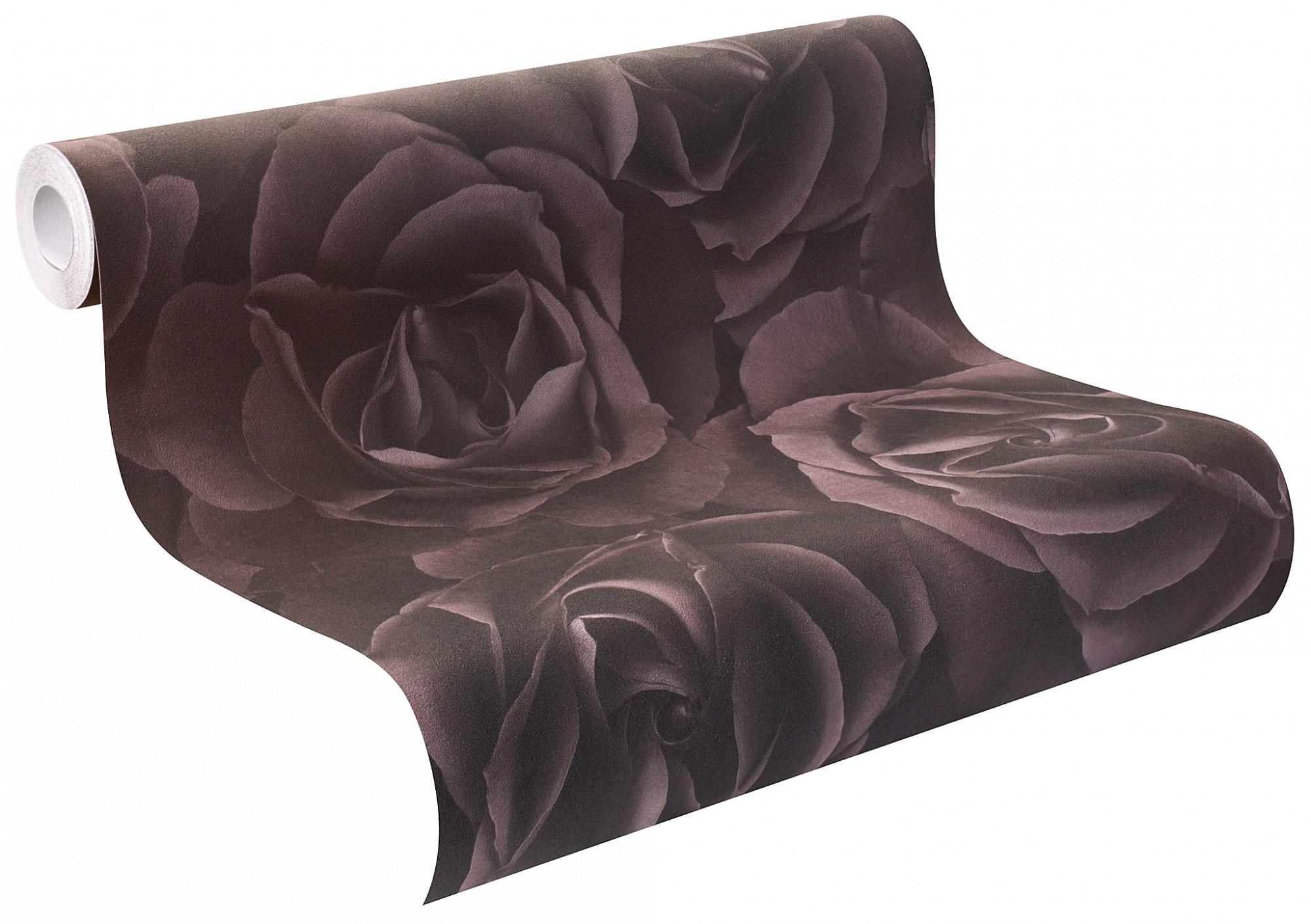 Rasch Tapete Crispy Paper lila Rosen 525618