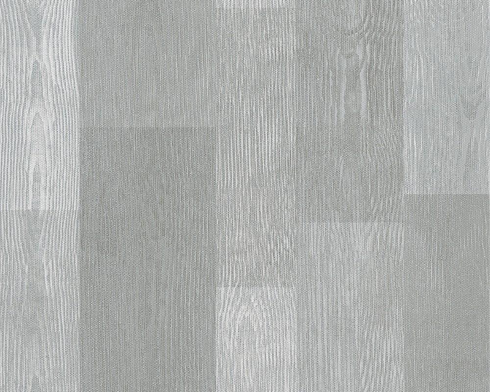 Tapete holz optik grau silber livingwalls 30643 2 for Tapete silber