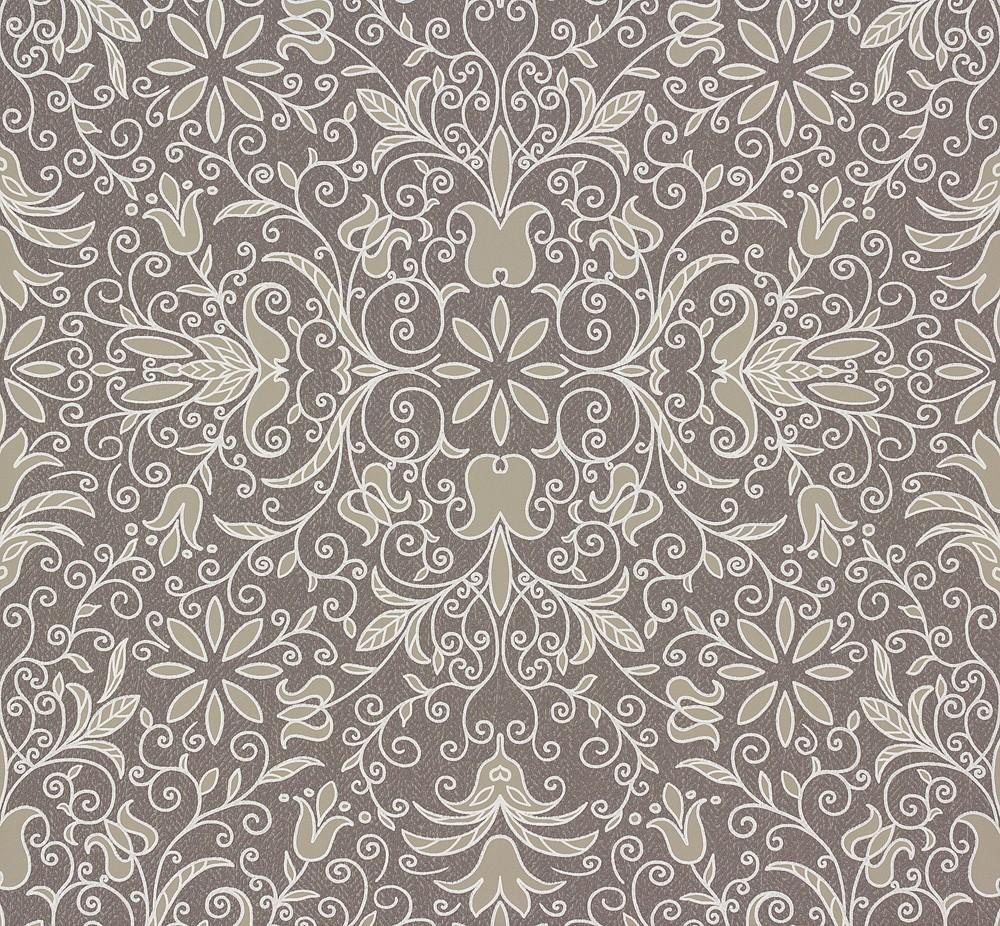 zuhause wohnen tapete floral grau beige 57111. Black Bedroom Furniture Sets. Home Design Ideas