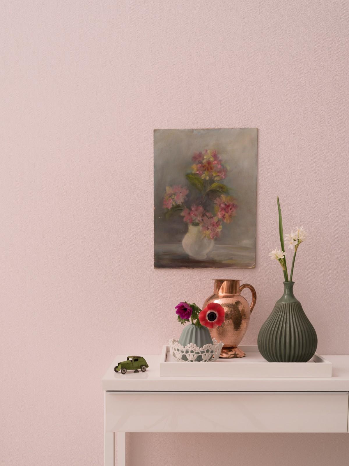 zuhause wohnen tapete einfarbig rosa 57124. Black Bedroom Furniture Sets. Home Design Ideas