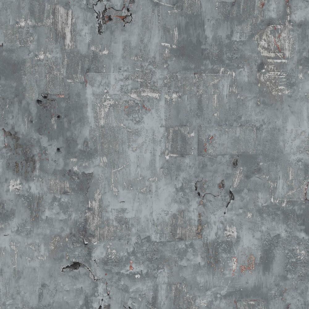 Tapete grandeco vintage metall optik grau ew3502 for Vintage tapete grau