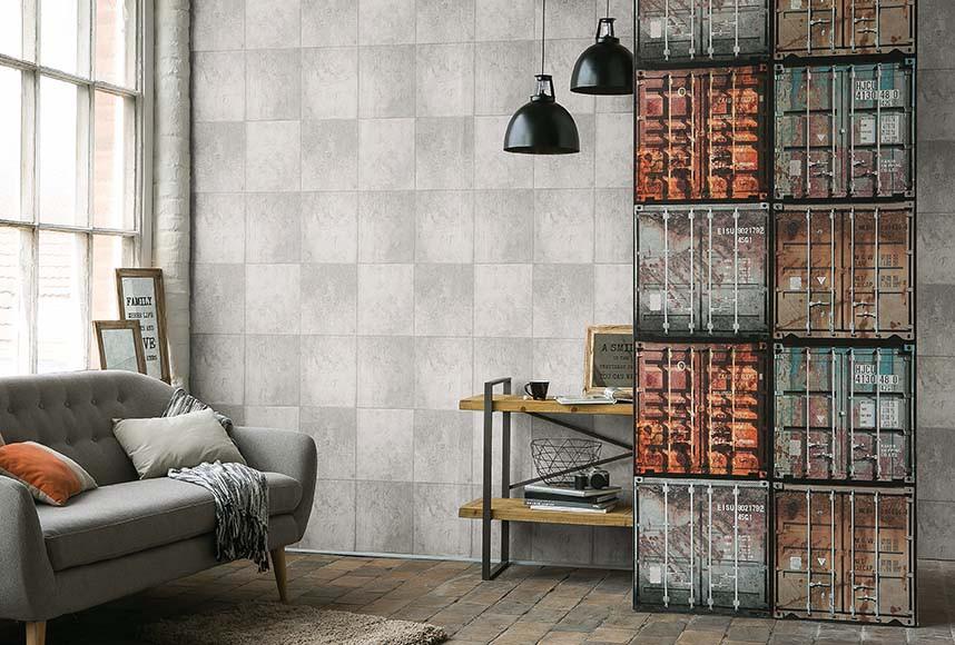 tapete as creation beton optik grau 30179 1. Black Bedroom Furniture Sets. Home Design Ideas