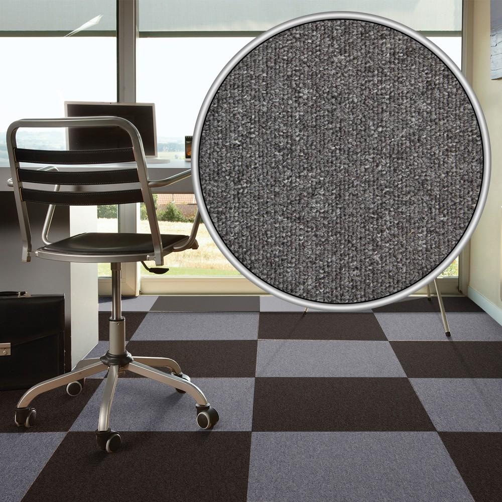 teppichfliese selbstliegend grau diva 50x50 cm. Black Bedroom Furniture Sets. Home Design Ideas