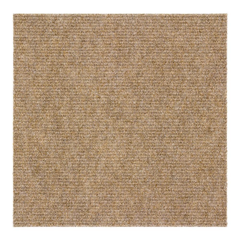 teppichfliesen selbstklebend nadelfilz teppich gerippt salsa beige 7 16 1qm ebay. Black Bedroom Furniture Sets. Home Design Ideas