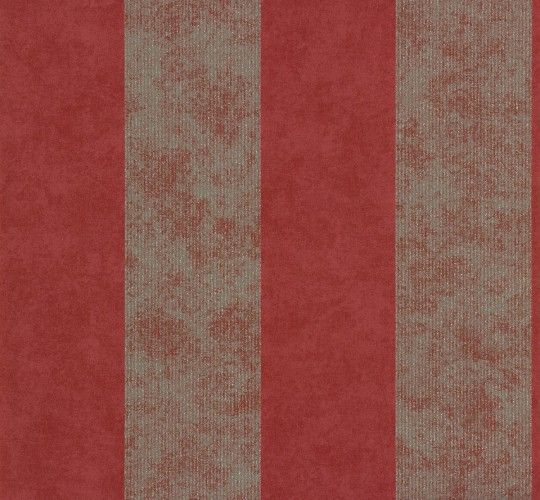 Vliestapete memory tapete barock 95372 4 953724 rot silber for Tapete streifen rot