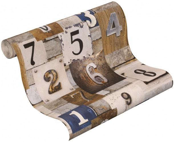 rasch kids teens 203714 papier tapete holz bretter holztapete grau beige creme. Black Bedroom Furniture Sets. Home Design Ideas