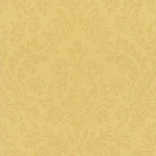 rasch tapete florentine einfarbig gelb 448580