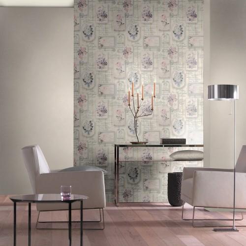 tapete vintage holz floral grau rosa tapete rasch aqua. Black Bedroom Furniture Sets. Home Design Ideas