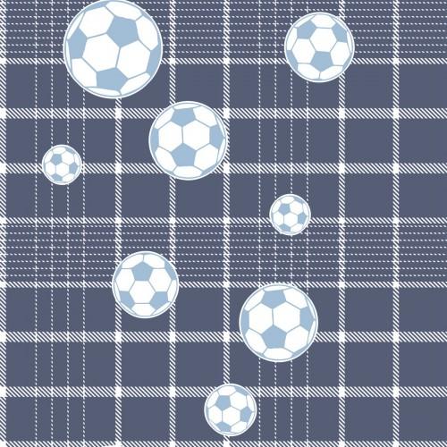 Tapete Blau Wei? Kariert : Tapete Vlies Fu?ball blau wei? Bim Bum Bam 002249 online kaufen