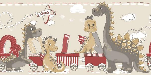 Tapete Beige Mit Punkten : Borte Drachen beige rot grau Bim Bum Bam 002274 online kaufen