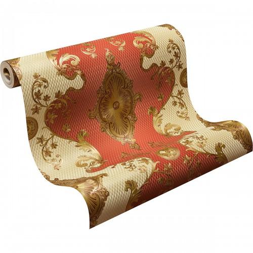 Tapeten Rot Gold Gestreift : Tapete Satin Barock Klassisch Hermitage rot gold 6829-18 online kaufen