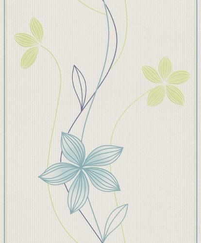 tapete vlies blumen blau gr n rasch fiora 457025. Black Bedroom Furniture Sets. Home Design Ideas