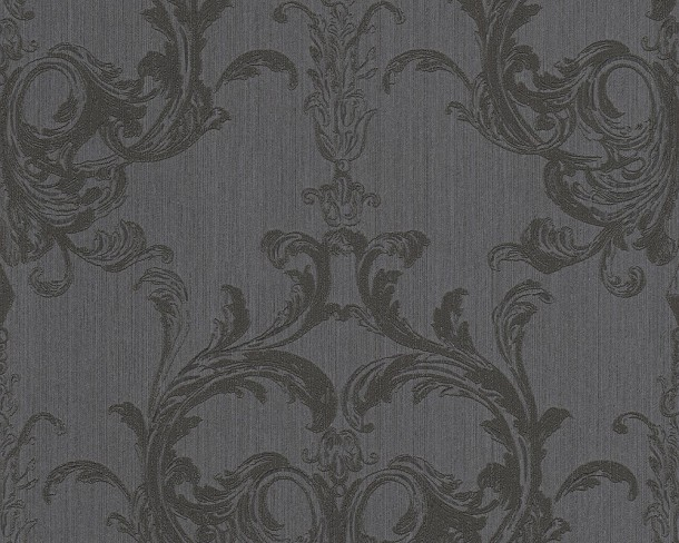tapete vlies barock schwarz tessuto 96196 6. Black Bedroom Furniture Sets. Home Design Ideas