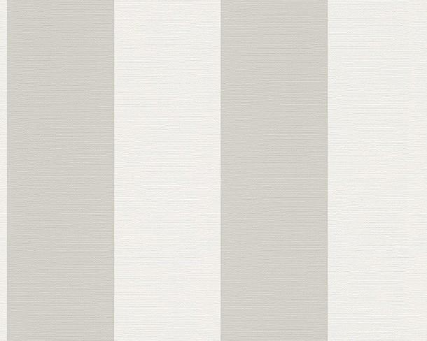 sch ner wohnen tapete streifen creme grau 30410 3. Black Bedroom Furniture Sets. Home Design Ideas