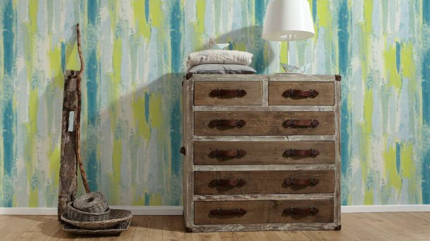 tapete vinyl shabby used design gr n as creation 31949 3. Black Bedroom Furniture Sets. Home Design Ideas