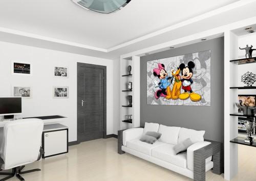 Wandbild keilrahmen kunstdruck 35x35 disney minnie und - Poster jugendzimmer ...