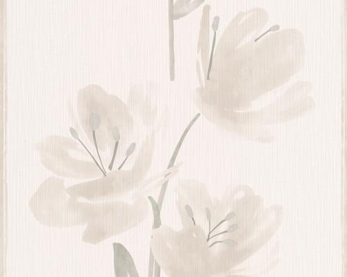 Neue Kollektion Esprit Tapeten : ESPRIT HOME 8 Vliestapete 3314-34 331434 Tapete Blumen beige creme
