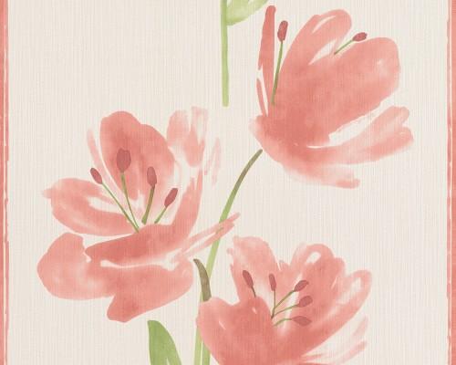Neue Kollektion Esprit Tapeten : Blumen rot wei? tapeten tapete-esprit-home-tapeten esprit-home-8