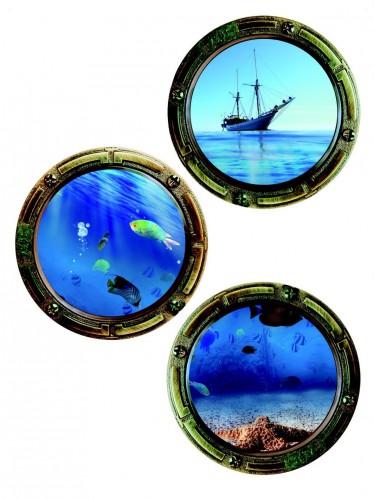 ... Wandtattoo Deko Tattoo - Bullaugen Schiff Fische online kaufen