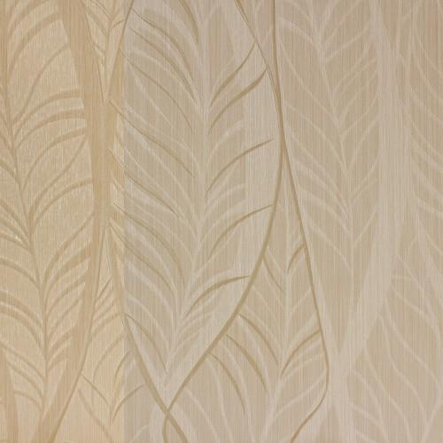 Vinyl Tapeten Hersteller : Tapeten Angelica Streifen Bl?tter creme beige Tapete Rasch Textil