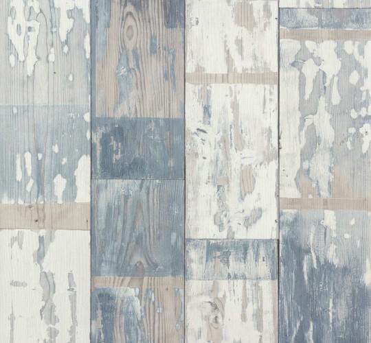 Retro Vlies Tapeten Contzen : Rasch Tapeten 587128 Vlies Tapete Holz Bretter Vintage Holztapeteblau