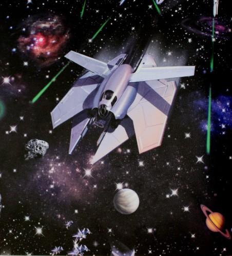 Tapete Beige Wei? Gepunktet : Tapeten rasch WELTALL Kindertapete 264906 Star Wars online kaufen