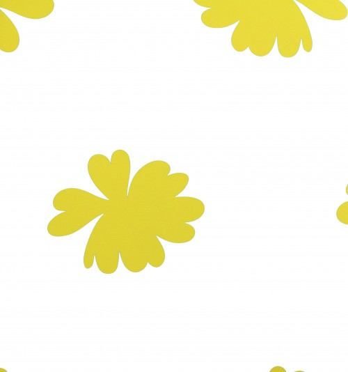 Tapeten Muster Anfordern : Landhaus 321684 Blume wei? gelb Tapeten Rasch Textil Vintage Chic